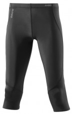 Nohavice – Skins A400 Womens Black/Silver 3/4 Tights