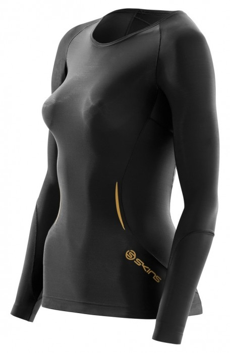 Skins A400 Womens Gold Top Long Sleeve