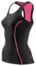 Tričká – Skins Bio A200 Womens Black/Pink Racer back top