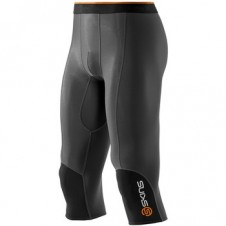 Pánske kompresné nohavice | Total-sport.sk – Skins Bio S400 - Thermal Man Black/Graphite/Orange 3/4 Tights